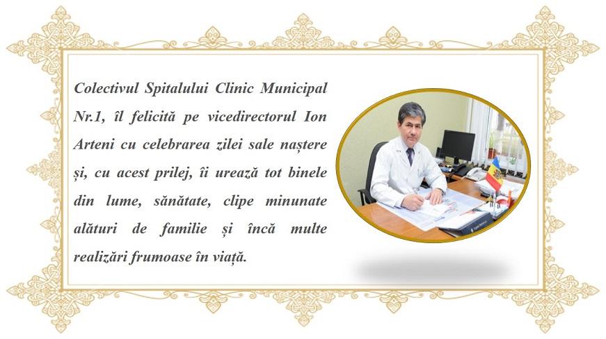 Vicedirectorul Ion Arteni își sărbătorește ziua de naștere